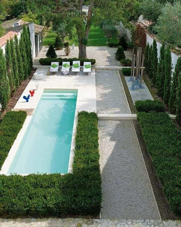 Am nagement jardin moderne 55 designs ultra inspirants d co ext rieur jardin moderne - Amenagement jardin avec piscine ...