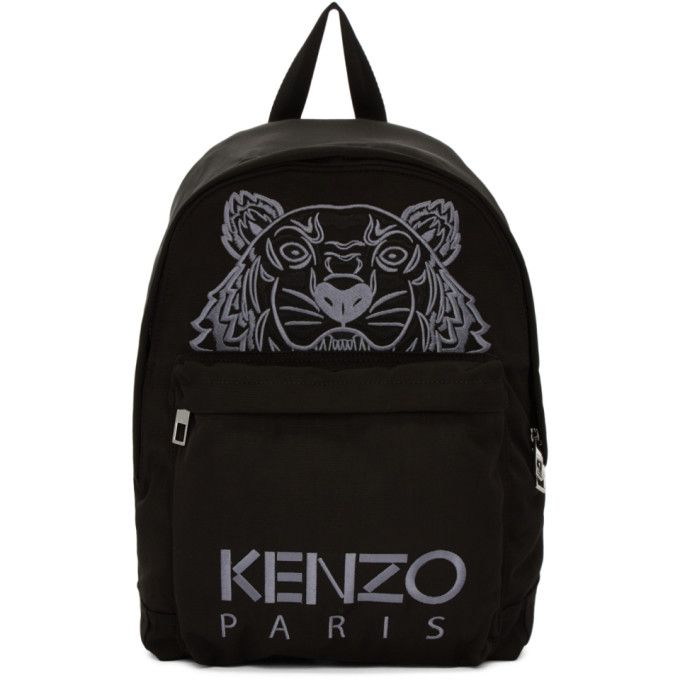 f4d8b08c8802 KENZO Black Large Tiger Canvas Backpack.  kenzo  bags  canvas  backpacks