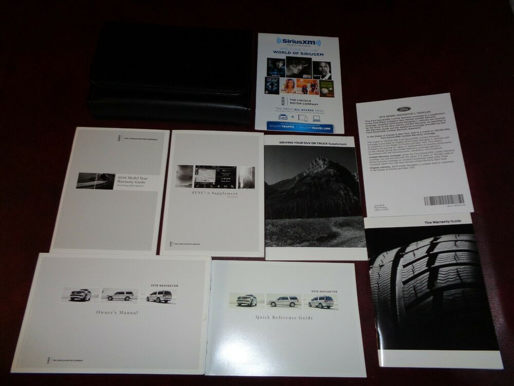Advertisement Ebay 2016 16 Lincoln Navigator Suv Owners Manual Books Reference Guide Sync Case All Car Owners Manuals Owners Manuals Ford Focus Car