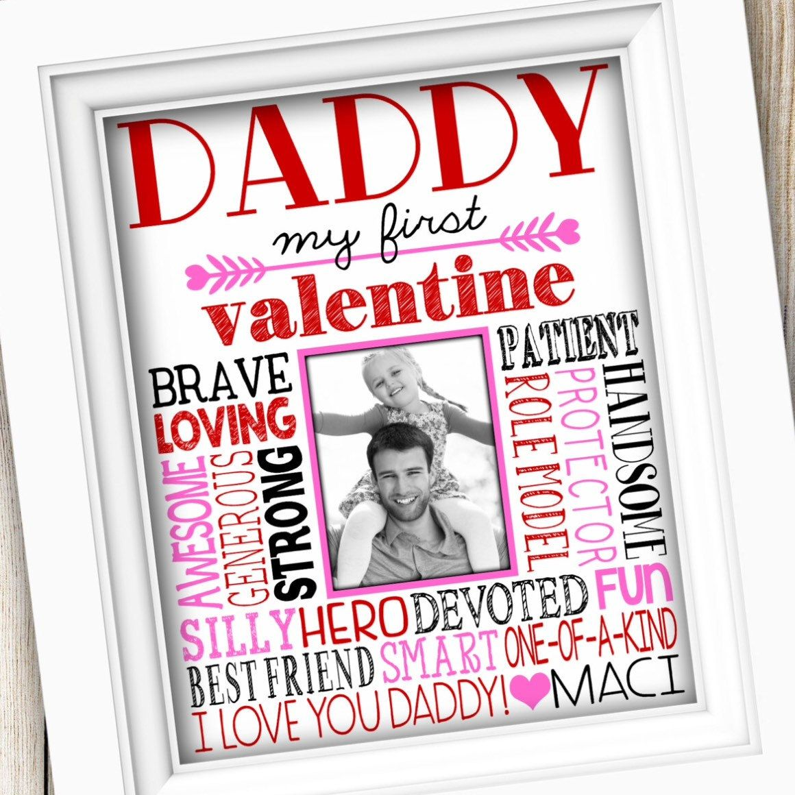 valentines day gift for dad daddy valentines day printable valentines gift for daddy gift for dad gift from daughter last minute - Valentine Gift For Daughter