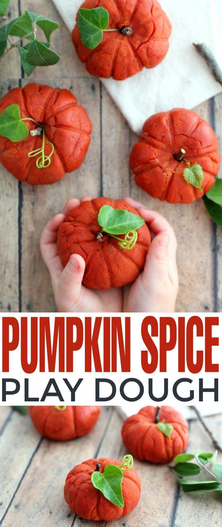 pumpkin spice play dough   recipe   >> halloween   pinterest