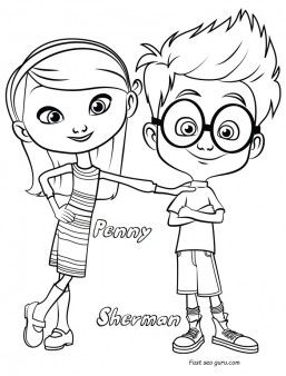 Printable Sherman And Penny Coloring Pages Disney Characters