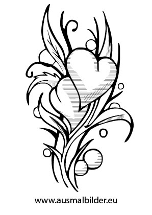 Ausmalbild Herzblumen Heart Tattoo Designs Heart Tattoo White Tattoo