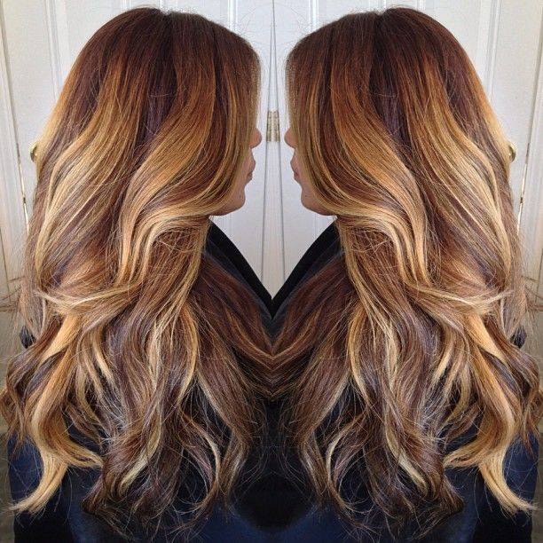 Light Brown Dark Brown Golden Brown Highlights Hair Extensions