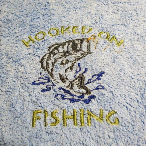 Hooked On Fishing Microfiber Towel Fishing by HeartSongCreativeExp, $8.00 Great Gift Idea for Dad or Grandpa!