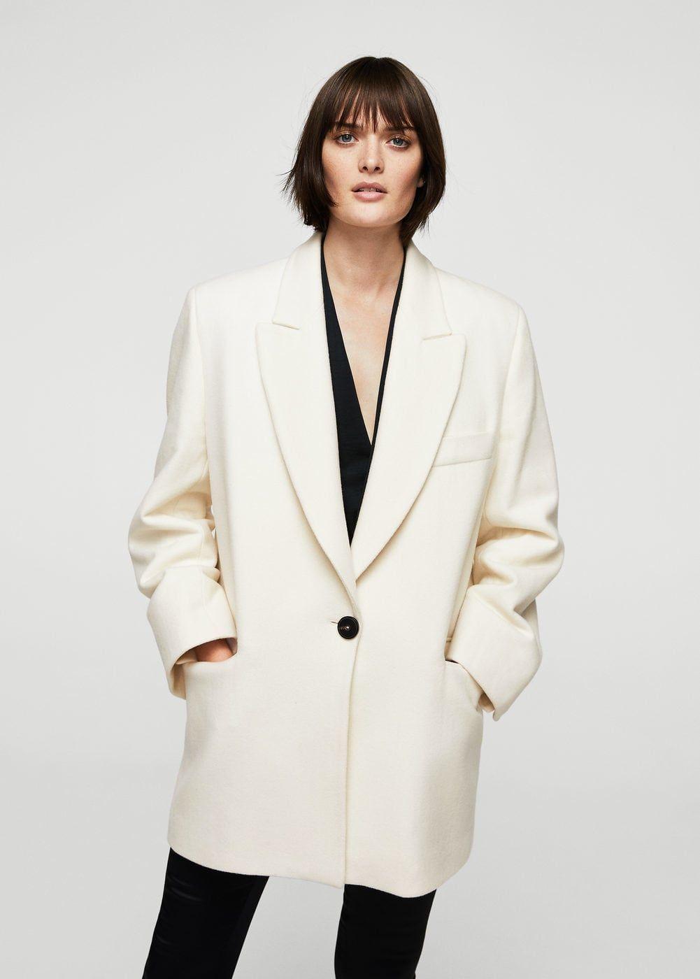 Oversize wool coat   MANGO. Oversize wool coat   MANGO Manteau Laine ... 332d06717fb6