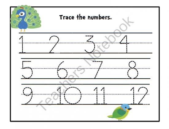 Numbers+1-12+worksheets+for+preschool