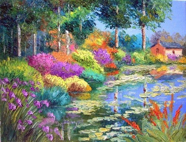 Jean Marc Janiaczyk Landschaftsgemalde Aus Ol Natur Gemalde Abstrakte Malerei
