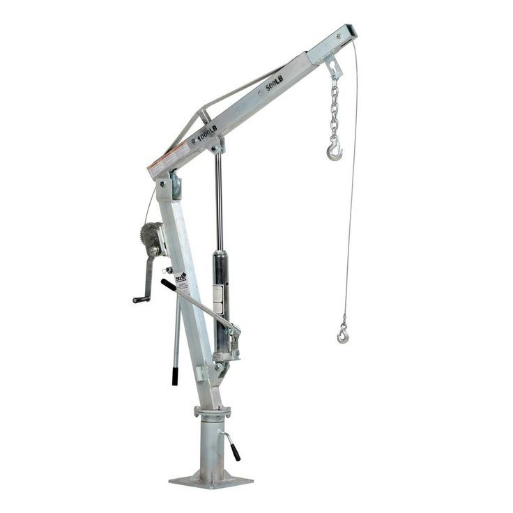 This Galvanized Winch Operated Truck Jib Crane lifts items