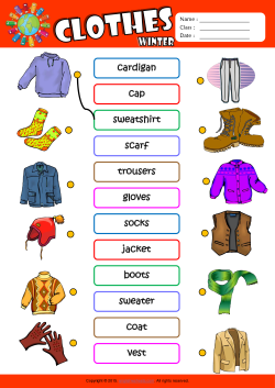Winter Clothes Esl Matching Exercise Worksheet For Kids