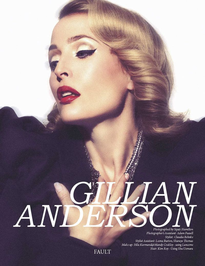 Gillian Anderson by Squiz Hamilton for Fault Magazine Fall ...