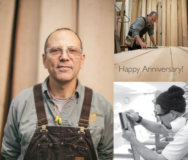 Happy Anniversary to The Joinery's shop foreman
