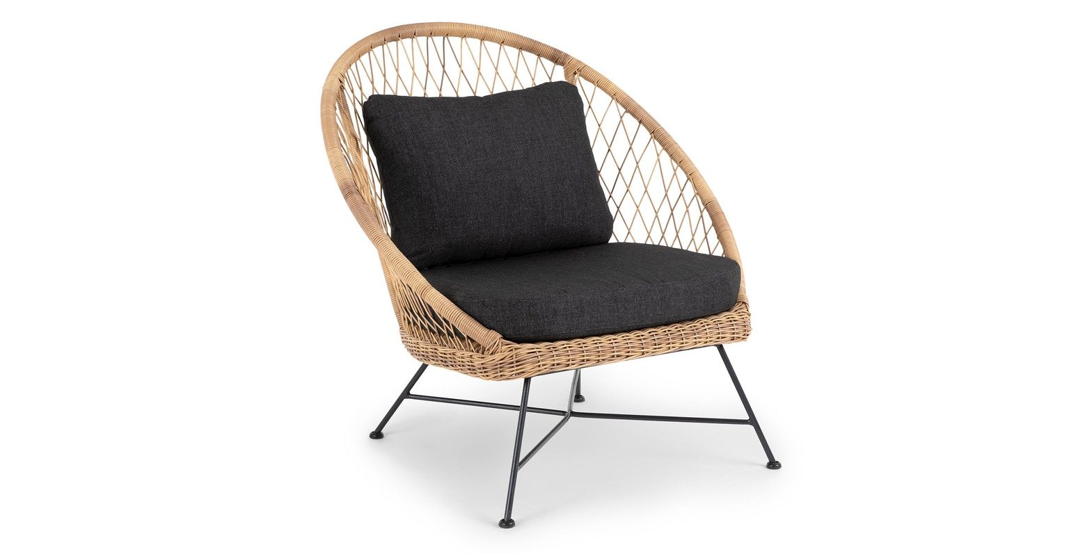 Modern Mid Century Outdoor Article Grey Lounge Chair Modern