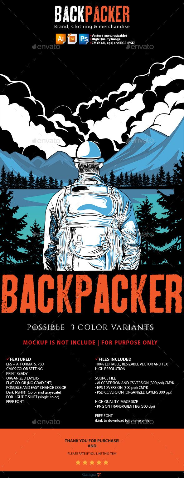 About This Product Backpacker Brand, Clothing