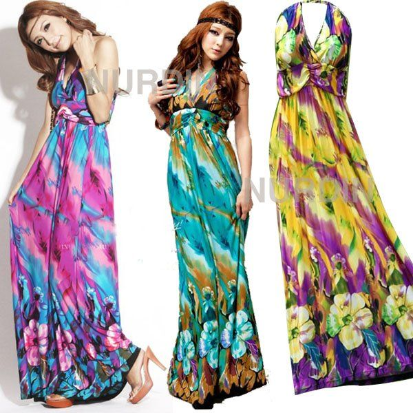 Collection Summer Long Dresses Pictures - Reikian