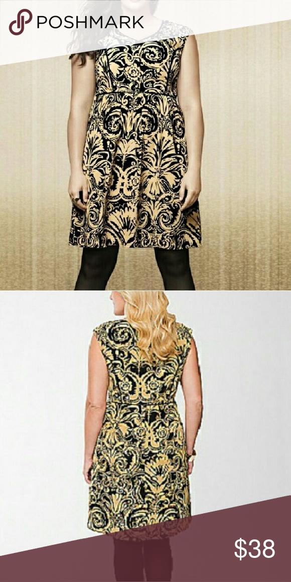 abfbd2dc1cf4 14W Lane Bryant Brocade Print Dress Brocade print dress from Lane Bryant in  a size 14W