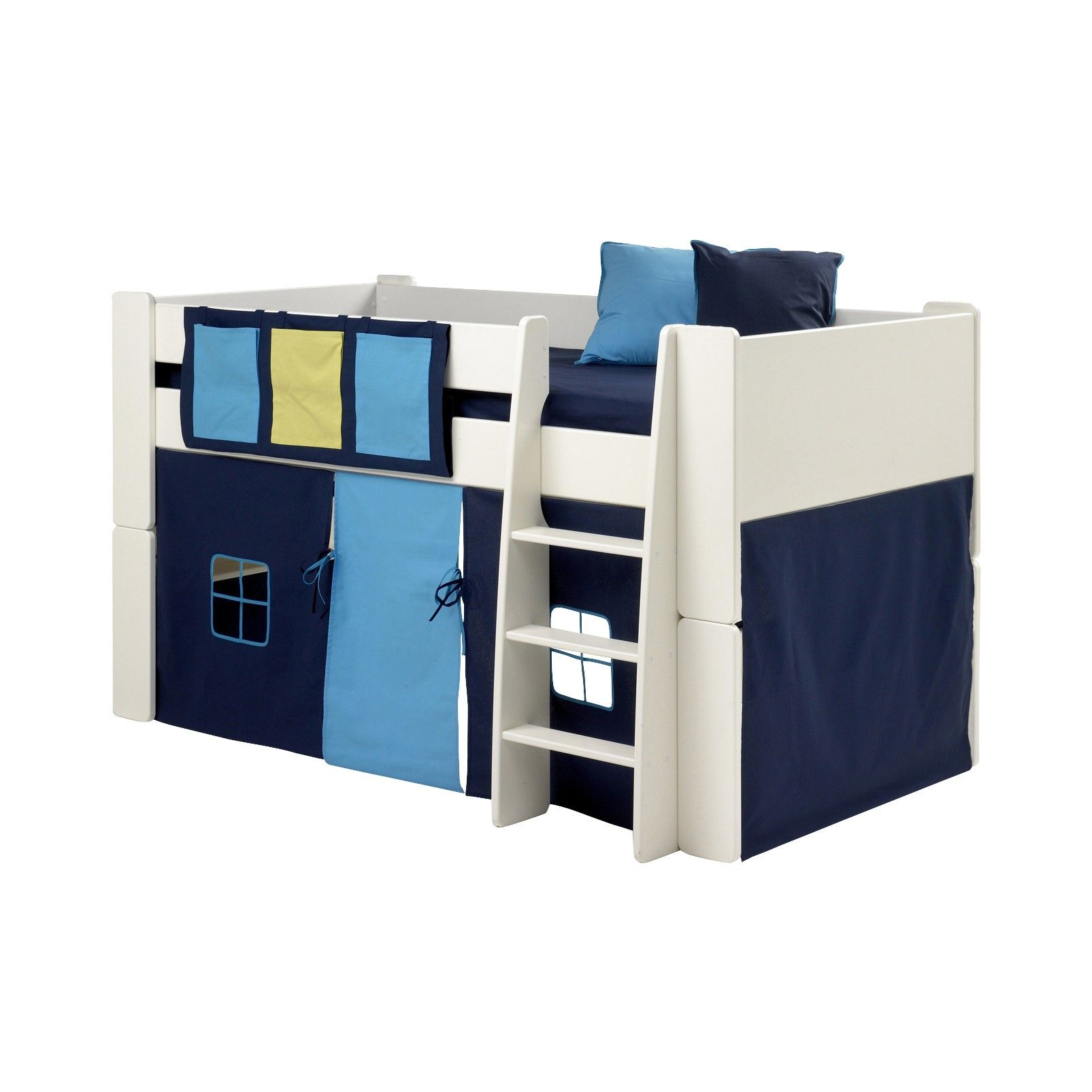 Steens For Kids Steens For Kids Mid Sleeper 3 Pocket Rail Tidy In Blue