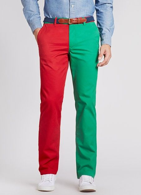 Bonobos men's Christmas themed red and green washed chinos ...