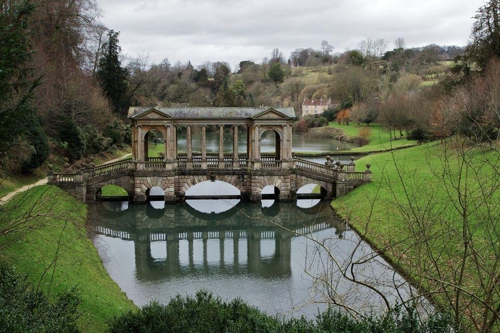 El puente palladiano en Prior Park, ciudad de Bath, Somerset, Reino Unido | 33 puentes impresionantes que tienes que cruzar en tu vida