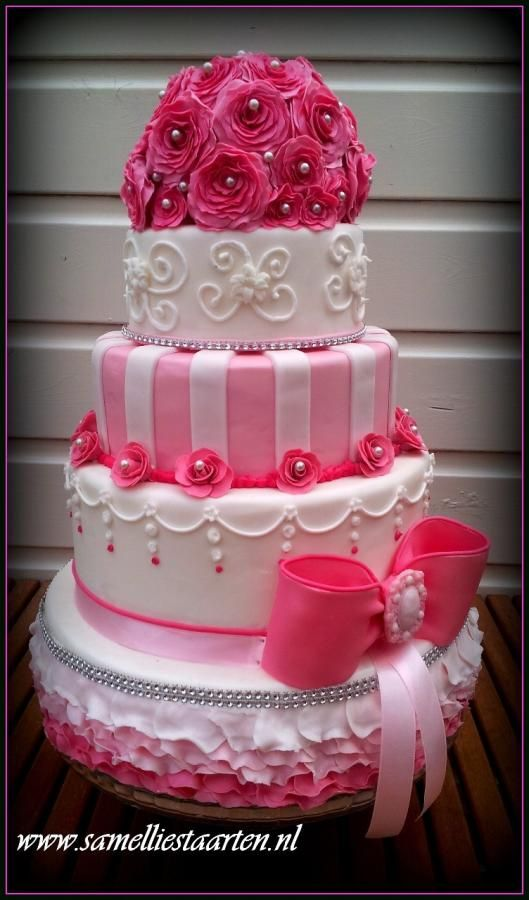 pink cake box wedding cakes pink ruffle wedding cake with sparkle piping 18570