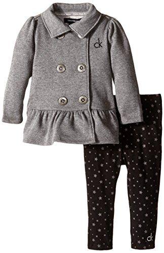 Calvin Klein Baby Girls Gray Jacket Calvin Klein Baby Baby Girl Pants Toddler Girl Outfits