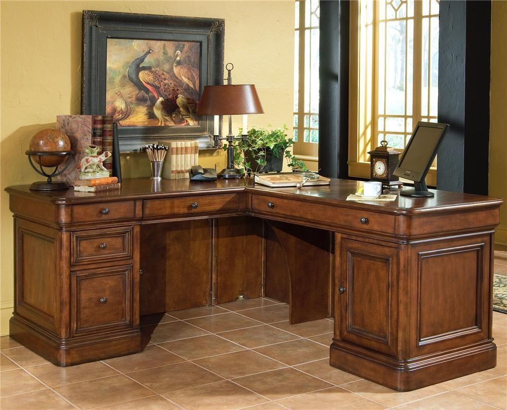 Villa Tuscano Return Desk By Golden Oak Whalen