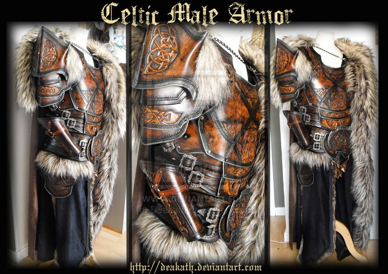 Celtic Male Armor by Deakath.deviantart.com on @DeviantArt