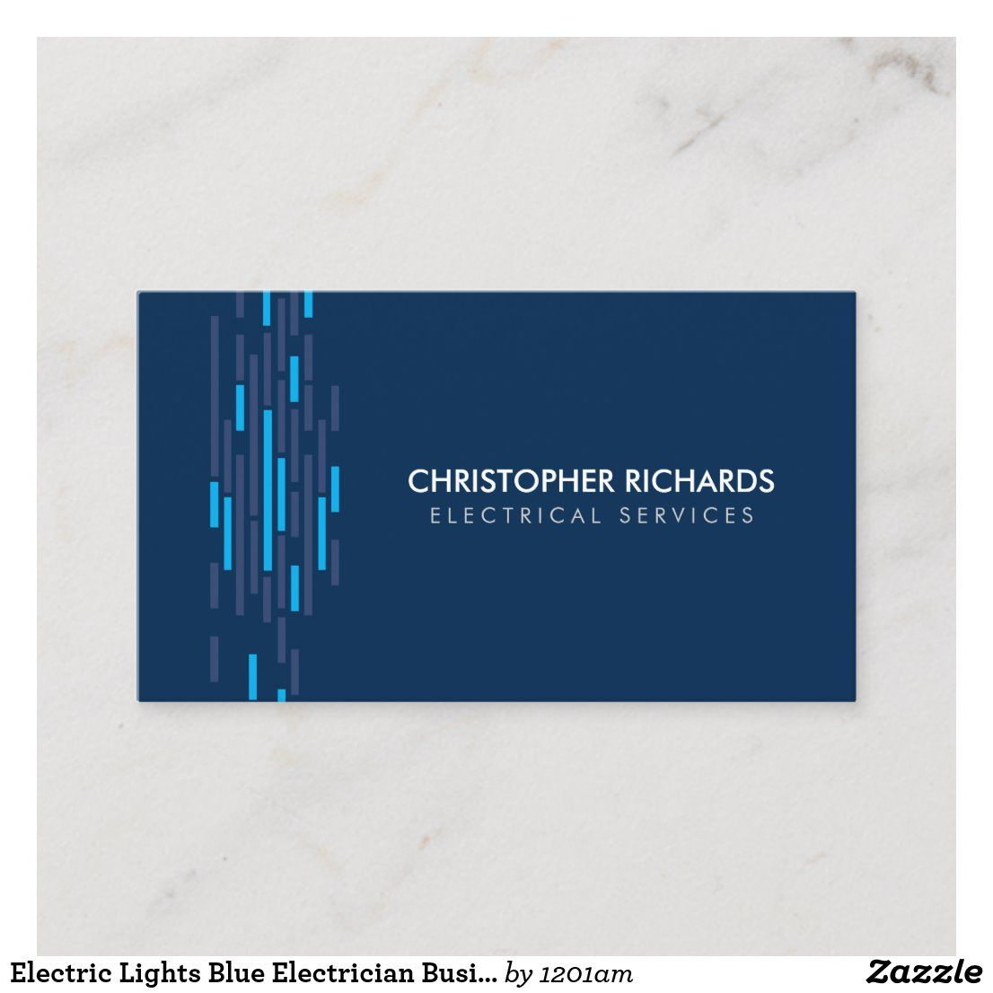 Electric Lights Blue Electrician Business Card Zazzle Com Electric Lighter Electrician Electricity