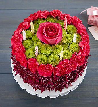 Birthday Wishes Flower CakeTM Purple