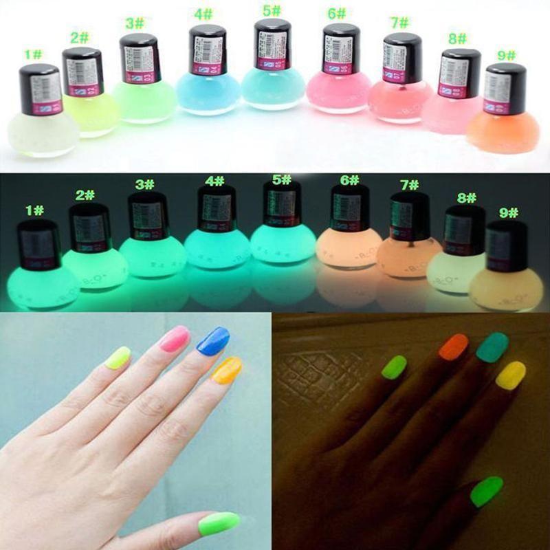 8ML Noctilucous Glow In Dark Fluorescent Luminous Nail Polish ...