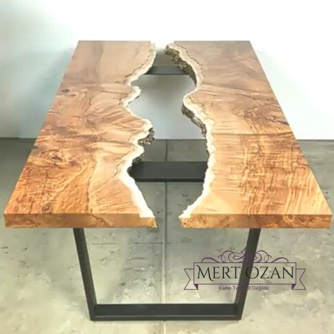 unique wood table with light blue epoxy glass piece | great for living room | decor | dinning table - Hobby -   - #blue #décor #dinning #Epoxy #epoxymasa #Glass #Great #Hobby #Light #Living #pièce #room #Table #unique #Wood