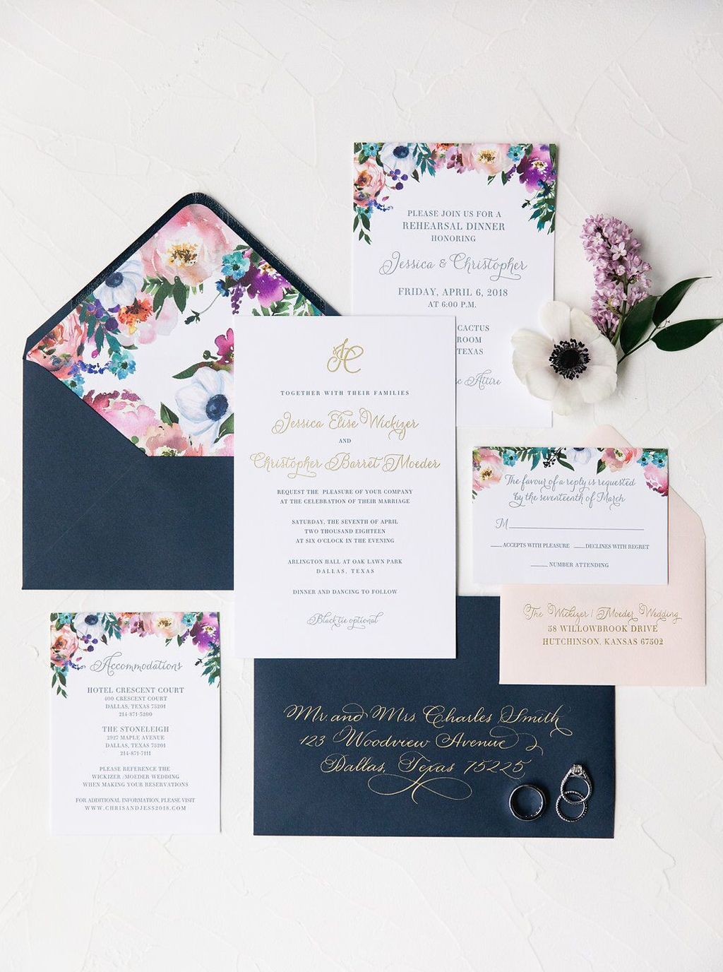 Southern Fried Paper Flora Watercolor Wedding Invitation Suite Watercolor Wedding Invitation Suite Wedding Invitation Design Wedding Photo Gallery