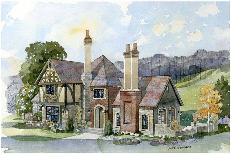 Storybook Cottage House Plans half-timbered cottage | storybook cottage with half timbered