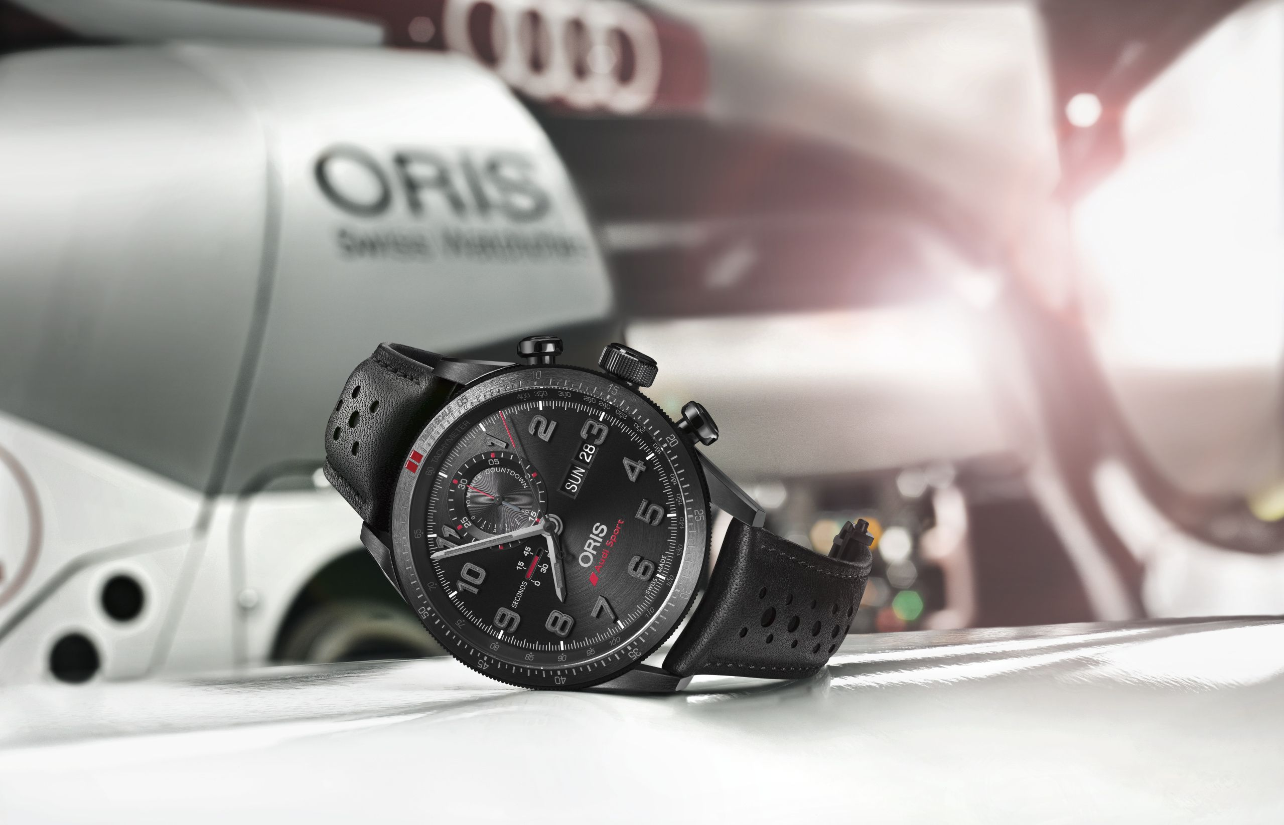 ORIS Audi Sport Limited Edition II palmarès inimitabile nel secondo anno della storica partnership tra oris e audi sport, oris è lieta di presentare l audi sport limited edition ii. l orologio è dedicato alla rivoluzionaria audi r18 e-tron quattro