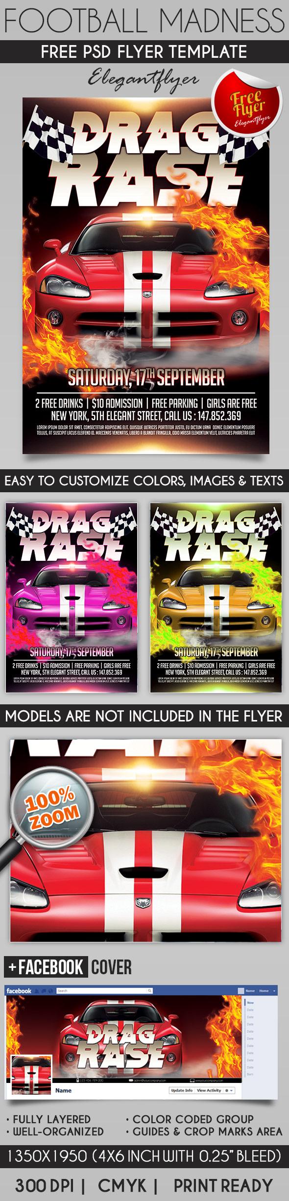 Drag Race Flyer Psd Template Free Psd Flyer Design 2016