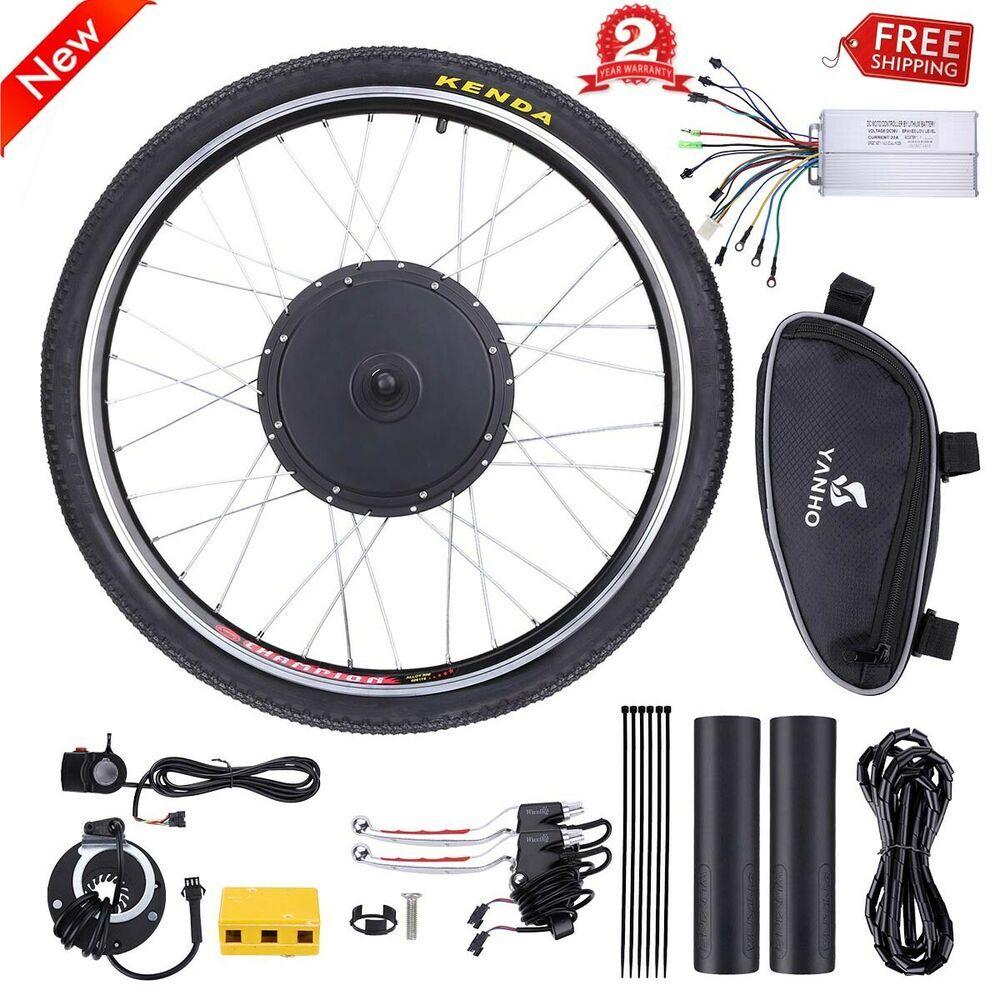 Electric Bicycle Motor Kit 26 Rear Wheel Pas System 1000w E Bike Conversion Set Electric Bike Electric Bicycle Conversion Kit Bike Motor Kit