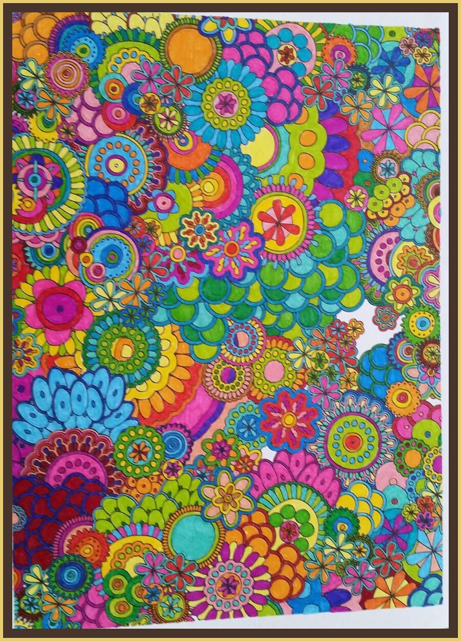 Feel good color art painting color