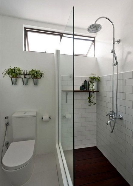 Small toilet design 11 inspiration effective on small for Small toilet and bath design