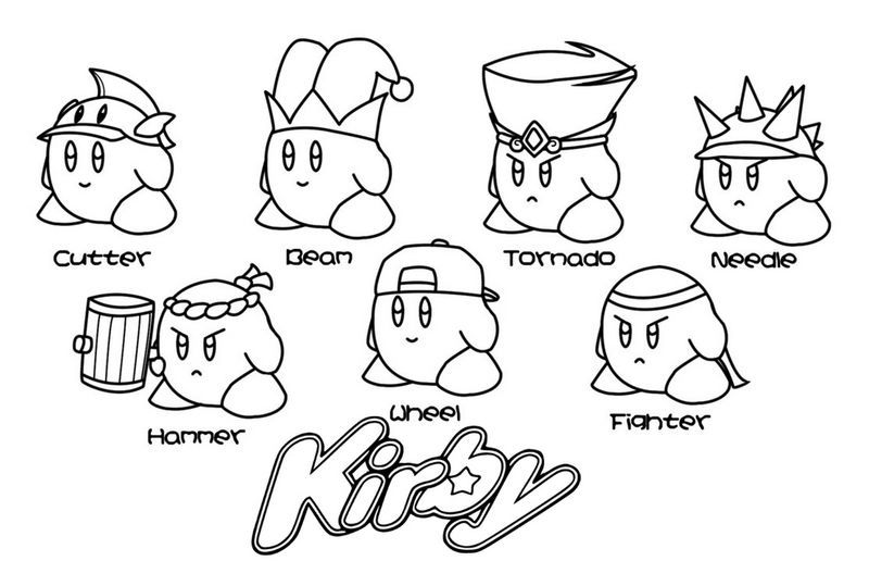 Kirby Characters Coloring Pages Monster Coloring Pages Coloring Pages For Kids Kirby Character
