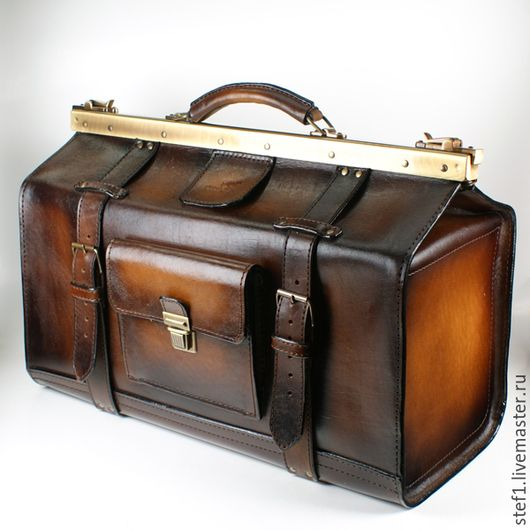 0e5187cb475e Мужские сумки ручной работы. Ярмарка Мастеров - ручная работа. Купить  Саквояж кожаный