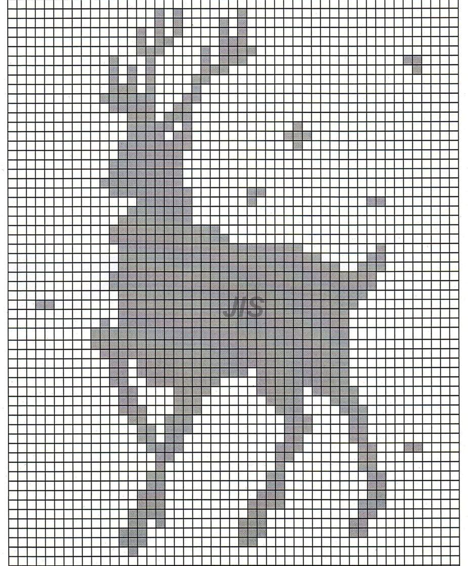 Схема оленя для вязания фото 302