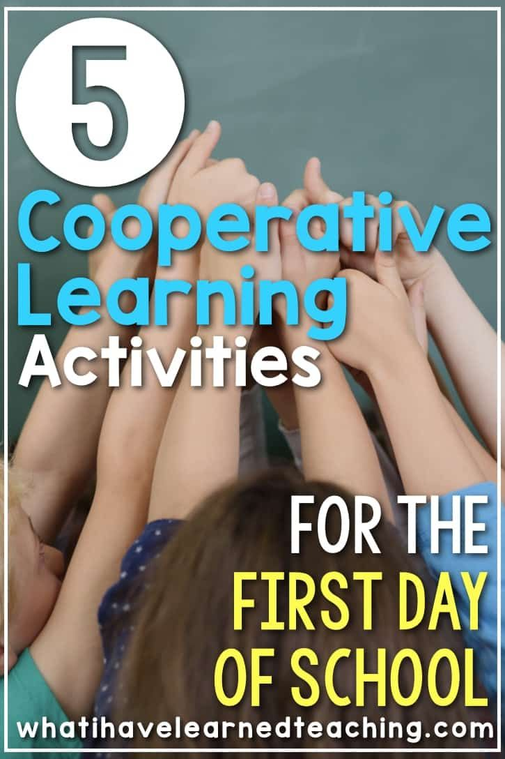 The First Week of Second Grade | Cooperative learning ...