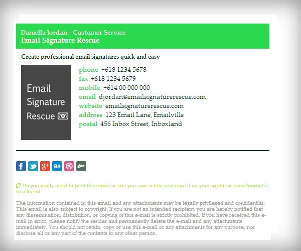 Color Bar Email Signature Template With X Logo  Like This