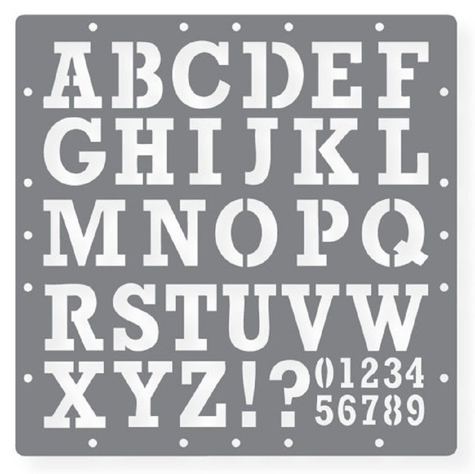 Unusual image in free printable stencil letters