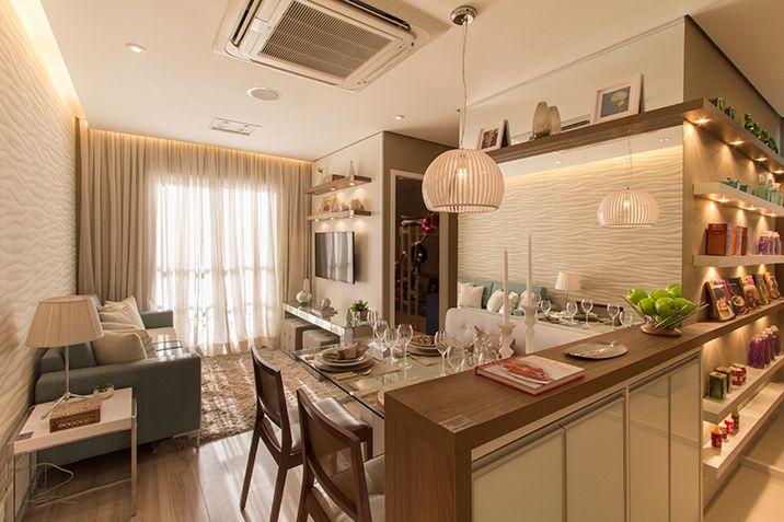 Foto do apartamento decorado de 2 dormit rios e 46 52 m for Cuartos decorados