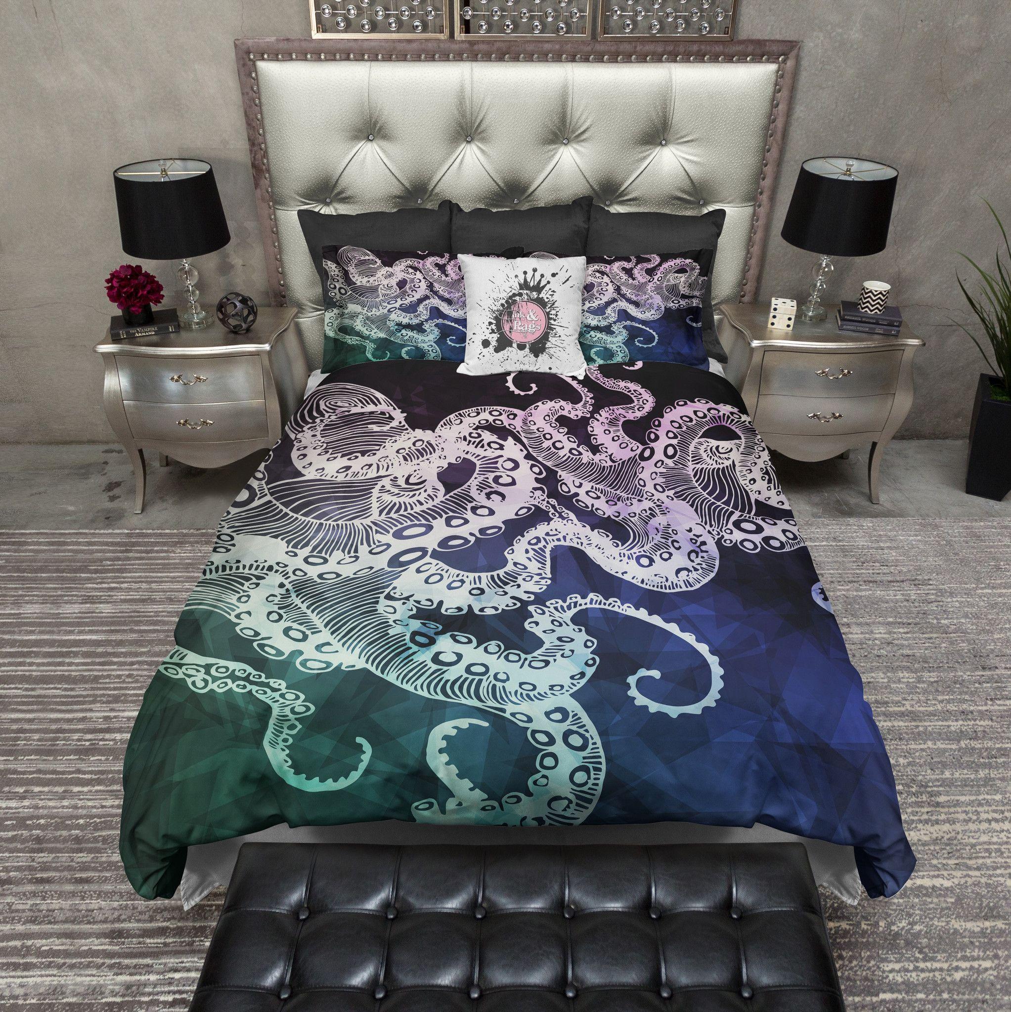 midnight octopus duvet bedding sets  duvet duvet bedding and  - midnight octopus duvet bedding sets  duvet duvet bedding and pillow cases