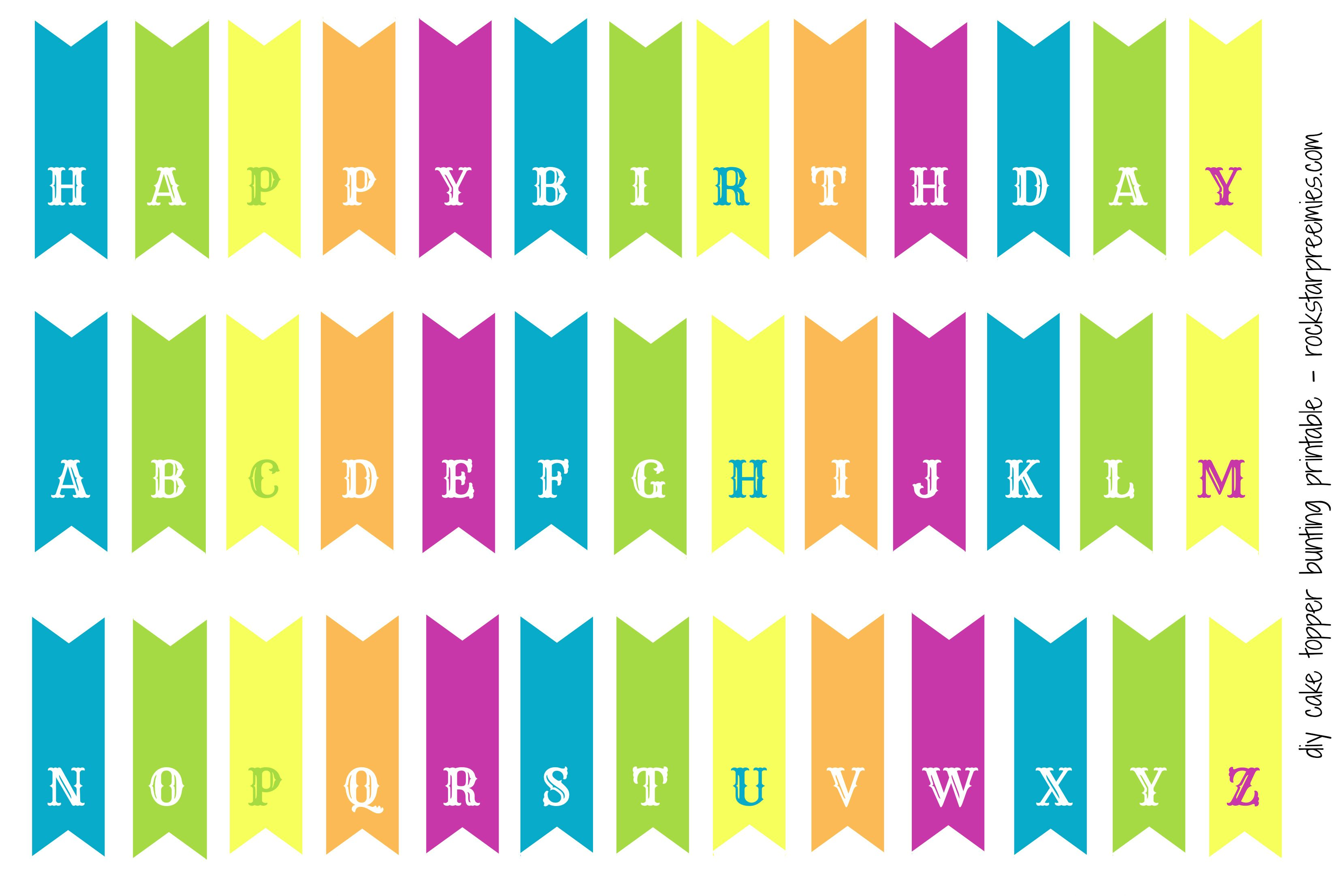 First Birthday For Two And A Free Diy Bunting Printable Printable Birthday Banner Birthday Banner Template Bunting Diy
