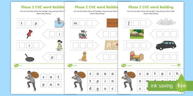 Phase 2 Cvc Word Building Reception English Worksheets Pdf Cvc Words English Worksheets Pdf Word Building Reception english worksheets pdf uk