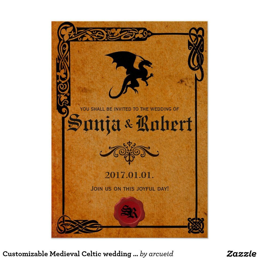 Customizable Medieval Celtic Wedding Invitation: Invitations Wedding Fun Irish At Websimilar.org