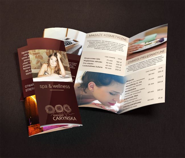 Trifold Spa Brochure Design Collection  Graphics